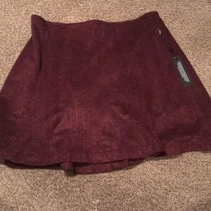 Burgundy / wine colored skirt with cutouts